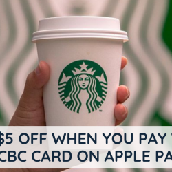 Starbucks: Get $5 OFF when You Pay with OCBC Card on Apple Pay!