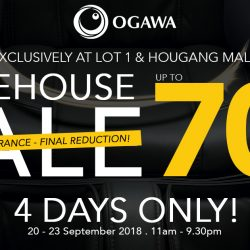 OGAWA: Display Set Clearance Sale with Up to 70% OFF Massagers at Lot 1 & Hougang Mall