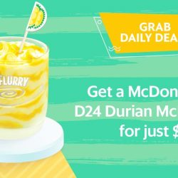 Grab: Get a McDonald's®D24 Durian McFlurry® for ONLY $1!(UP $3.10)
