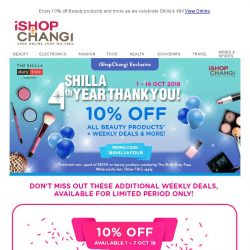 [iShopChangi] Get your hands on these Beauty Deals now! 