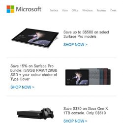 [Microsoft Store] Save up to S$580 on Surface and Xbox