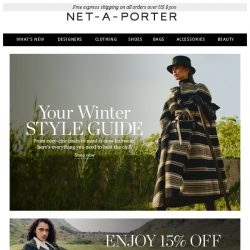 [NET-A-PORTER] Your winter style guide is here