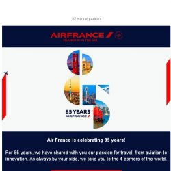 [AIRFRANCE] ✈ Let's celebrate Air France 85 years!