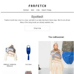 [Farfetch] Shop our 4 favourite fashion month trends now