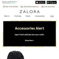 [Zalora] Accessories Alert: Inject fresh attitude into your outfit
