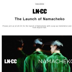 [LN-CC] You're Invited: The Launch of Namacheko