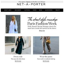 [NET-A-PORTER] Channel effortlessly chic Parisian style