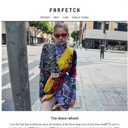 [Farfetch] What's the autumn version of the floral wrap dress? 4 new takes inside