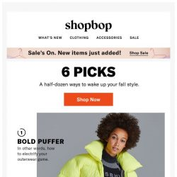 [Shopbop] 6 instant style upgrades