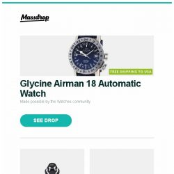 [Massdrop] Glycine Airman 18 Automatic Watch, AKRacing SX & LX Core Series Gaming Chairs, Sony 7.1.2ch Dolby Atmos DTSX TM Soundbar HT-ST5000 and more...