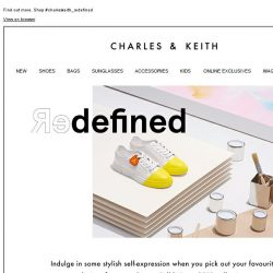 [Charles & Keith] Redefine your individuality. Shop to receive a limited edition tag