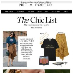 [NET-A-PORTER] How to wear the logo now