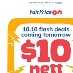 [Fairprice] Save in a Flash