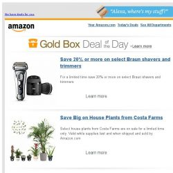 [Amazon] Save 20% or more on select Braun shavers and...