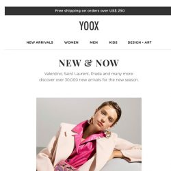 [Yoox] Discover over 30,000 new arrivals