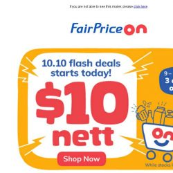 [Fairprice] 10.10 Deals at Just $10 Nett!