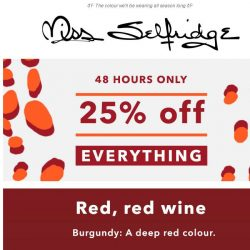 [Miss Selfridge] 25% OFF EVERYTHING STARTS NOW 🚨