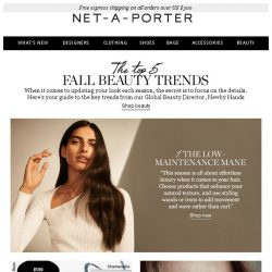 [NET-A-PORTER] The top 5 beauty trends for fall