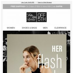 [Saks OFF 5th] Ladies' Night: Extra 20% off Free People, Halston Heritage & more