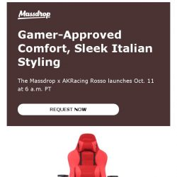 [Massdrop] Massdrop x AKRacing Rosso Gaming Chair: Available Thursday
