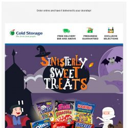 [Cold Storage] 🎃 Frightful Delights for Halloween Nights!! 🎃