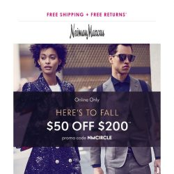 [Neiman Marcus] $50 off what you want for fall