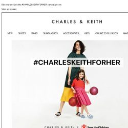 [Charles & Keith] Support female education with our new collection.
