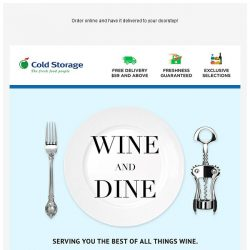 [Cold Storage] 🍷 Don't Miss Out on the Wine Fair! 🍷 10% + 10% Off Wines! Applicable Online too!