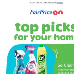 [Fairprice] Clean Home, Tasty Meals