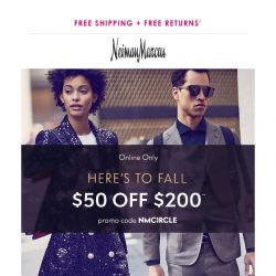 [Neiman Marcus] $50 off to help you refresh for the season