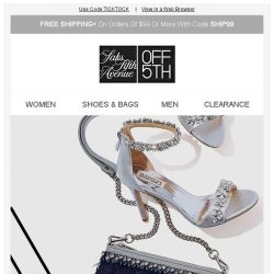 [Saks OFF 5th] Shoe & Handbag Flash Sale: Pick up the pace! + PRICE DROP Alert: Superdry & more!