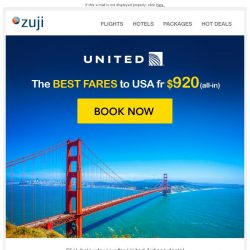 [Zuji] BQ.sg: Special Fares to USA with United Airlines