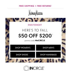 [Neiman Marcus] Ends tonight! $50 off + Triple Points