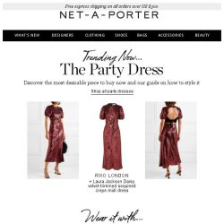 [NET-A-PORTER] Find your next party dress here