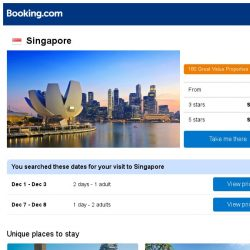 [Booking.com] Deals in Singapore from S$ 37