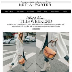 [NET-A-PORTER] Making plans for the weekend? Get inspired by our chic edit