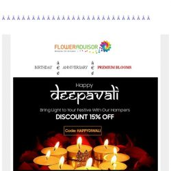 [Floweradvisor] Spend Less, Happy More. Save 20% for your deepavali hampers. 3 days left!
