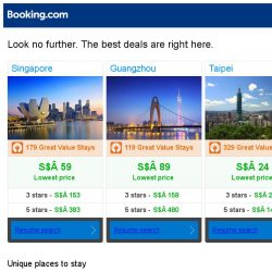 [Booking.com] Singapore, Guangzhou and Taipei -- great last-minute deals as low as S$ 24!