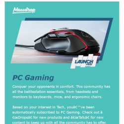 [Massdrop] Recommended for You: New PC Gaming Community
