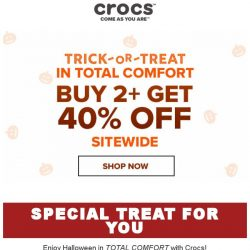 [Crocs Singapore] A Special Treat for you🍭 40% off Sitewide