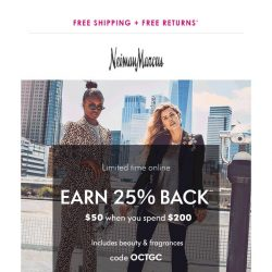 [Neiman Marcus] Shop these picks & get 25% back
