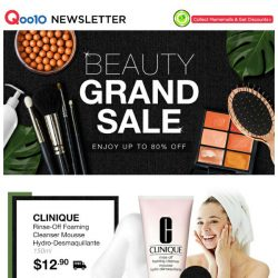 [Qoo10] BEAUTY GRAND SALE! $12.90 Clinique Rinse-Off Foaming Cleanser | $13.90 LOccitane Almond Shower Oil | Free Shipping