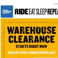 [Chain Reaction Cycles] 60% off: Warehouse Clearance starts now!