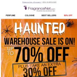 [FragranceNet] Don't be SPOOKED - 30% OFF  starts now!