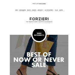 [Forzieri] Now or Never 3.1 Phillip Lim, Simon Miller, McQ | Up to 70% OFF & Beyond