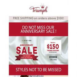 [Triumph] Do Not Miss Our Anniversary Sale!