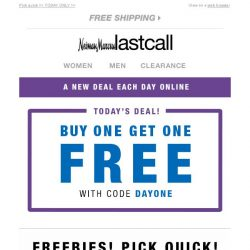 [Last Call] URGENT! You just landed FREE STUFF