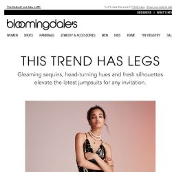 [Bloomingdales] Statement jumpsuits: Your party of one