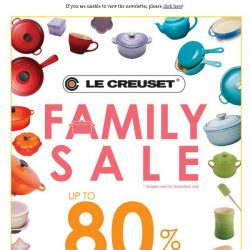 [LeCreuset] Le Creuset Family Sale (26 - 28 October'18) - Up to 80% off