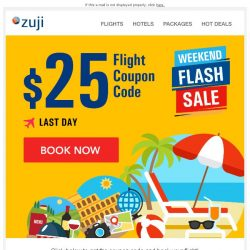 [Zuji] BQ.sg: Last Chance - $25 Flight Coupon!